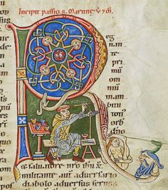Painter at work-Codex Bodmer 127 244r 1170-1200