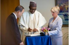 Nigerian President Buhari meets UN Secretary General, Ban ki Moon - http://www.nollywoodfreaks.com/nigerian-president-buhari-meets-un-secretary-general-ban-ki-moon/