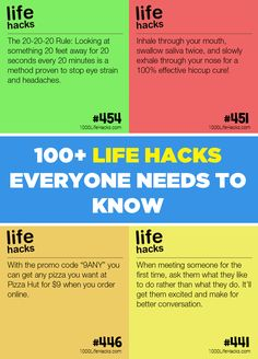 100+ Life Hacks everyone needs to know