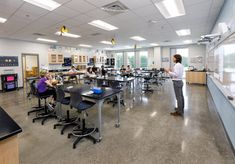 Moseley Architects completed the Powhatan Middle School to make advances in innovative learning for students in Powhatan, Virginia. The Powhatan Middle School project began with … Education Middle School, School Staff, Public School, Powhatan County, Learning Spaces, Science Education, Media Center, The Middle, Educational Technology