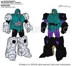 Original Overloard Design Images from #Transformers Titans Return