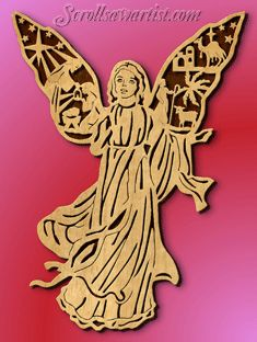 Scroll Saw Patterns :: Religious & Inspirational :: Angels -                                                                                                                                                                                 Más