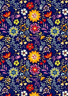 66 Super Ideas for embroidery mexican pattern design Pattern Floral, Motif Floral, Pattern Art, Floral Prints, Floral Design, Pattern Fabric, Pattern Paper, Pretty Patterns, Beautiful Patterns