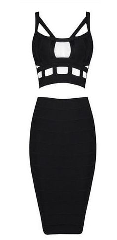 Khloe Cutout Two Piece Bandage Dress