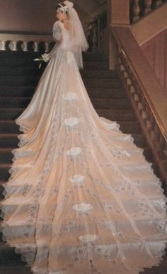 Vintage Wedding Gown by Alfred Angelo 13 Train by deportnewkirk, $275.00