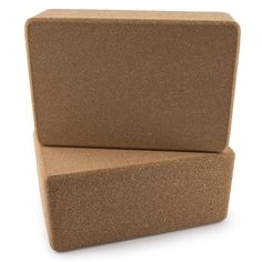 Set of 2 Da Vinci Premium Natural Cork Yoga Blocks - High Density, 9 x 6 x 4 Inch Each. Set of 2 Naturl Cork Da Vinci Yoga Blocks. Made of high density natural cork to provide stability & balance and secure yoga poses. Each block dimensions: 4 x 6 x 9 inches. Helps deepen your stretches and poses while ensuring proper alignment. #yogablocks
