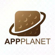 App+Planet+logo Make Your Own Logo, Create Your Own, Planet Logo, Premium Logo, Logo Maker, Logo Templates, Planets, Logo Design, App