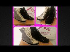 Zapatos tejidos a Crochet, Tipo Converse tejidos Parte 3. Agujetas - YouTube