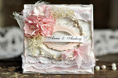 From Ewa Mrozowska, aka Cynka Poletko, in Wielkopolska, Poland. Shabby Chic Cards, Vintage Shabby Chic, Scrapbooking, Scrapbook Cards, Engagement Cards, Beautiful Handmade Cards, Adult Crafts, Card Tags, Stamping Up