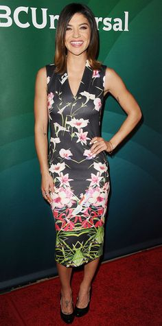 January 19, 2015 - Jessica #Szohr in #floral Ted Baker London