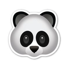 Panda Face ($1) ❤ liked on Polyvore featuring home en home decor