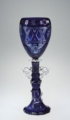 Goblet by Fritz Dreisbach, 1993.  | Corning Museum of Glass #glass #Contemporary #goblet