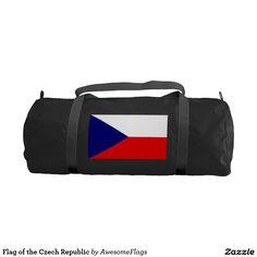 Flag of the Czech Republic Gym Duffel Bag