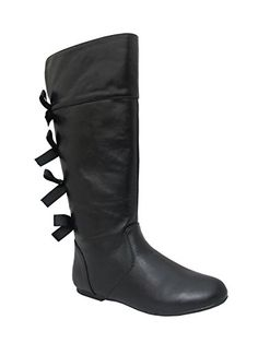 02a254b772ffb Kristin-K Girls High Top Boots with Bow at the Back - From Shoes to Sandals