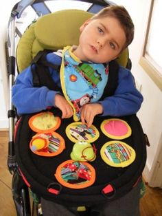 How to make sensory toys and using them with a trabasack (or IKEA lap desk and velcro) sensory play tray. Repinned by SOS Inc. Resources.  Follow all our boards at http://Pinterest.com/sostherapy for therapy resources.