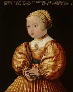 Artist: Seisenegger, Jakob, Title: Portret van Anna van Oostenrijk, Date: 1530