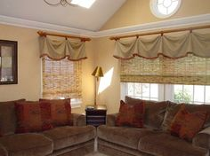 Family Space for Relaxing - eclectic - family room - new york - Interior Remake by Elaine's Design.......love the window treatments!
