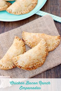 Chicken Bacon Ranch Empanadas. Delicious empanadas made out of pie crust stuffed with a chicken, bacon, and ranch filling.
