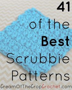 Roundup: 41 of the best free crochet patterns for scrubbies, curated by Cream of the Crop Crochet