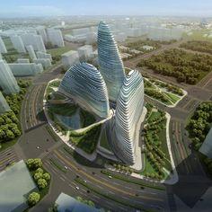 Wangjing Soho door Zaha Hadid Architects   architectura.be