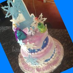 Disney Frozen Birthday Cake - Bittersweet Bake Shoppe - Tyngsboro, Massachusetts 01879