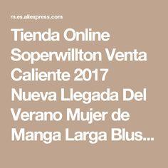 Tienda Online Soperwillton Venta Caliente 2017 Nueva Llegada Del Verano Mujer de Manga Larga Blusa de Las Mujeres Camisa de Gasa Con Volados Tops Camisa Blusa Renda # A506 | Aliexpress móvil