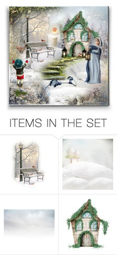 """""""Cottage In the Woods.. """"Christmas Wishes""""...."""" by julidrops ❤ liked on Polyvore featuring art"""