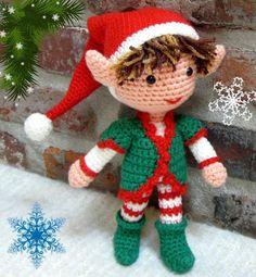 Mesmerizing Crochet an Amigurumi Rabbit Ideas. Lovely Crochet an Amigurumi Rabbit Ideas. Crochet Dolls Free Patterns, Crochet Doll Pattern, Amigurumi Patterns, Amigurumi Doll, Crochet Toys, Christmas Elf, Crochet Christmas, Christmas Crafts, Christmas Decorations