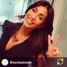 #FedericaNargi Federica Nargi: RG @verissimotv: @fede_nargi a #Verissimo! Splendida e simpaticissima , per un'intervista scoppiettante! #instaphoto #instavip #regramapp