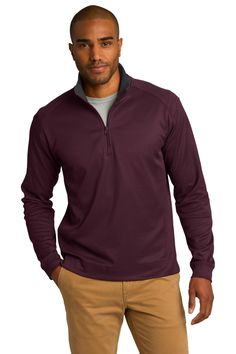 NEW Port Authority® Heavyweight Vertical Texture 1/4-Zip Pullover
