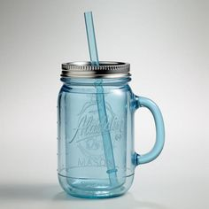Entertain in color. Serve summer sip-ables in our BLUE MASON JAR TUMBLERS at Cost Plus World Market  #Retro #glassware #Vintage #decor #entertaining #MasonJar #rustic