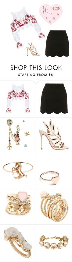 """Untitled #203"" by iamdarine ❤ liked on Polyvore featuring Topshop, Betsey Johnson, Sergio Rossi, Batya Kebudi, Holly Ryan, Charlotte Russe, ALDO and J.Crew"