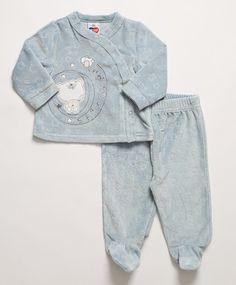 Conjunto Baby de 2 pçs Azul Claro