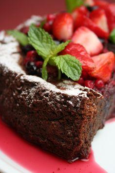 Torta de chocolate y jengibre con harina de maíz (gluten free)