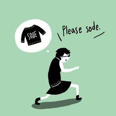 春服には袖をつけて下さい。