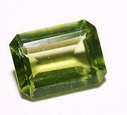 Olive Green Peridot