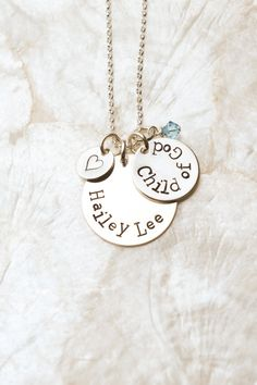 Child of God Necklace, I Am a Child of God, LDS Baptism Gift Idea, Baptism Necklace, LDS Gift. $40.00, via Etsy.