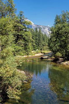 Merced River. Yosemite National Park, California.
