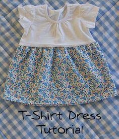 littleblueduck: T-Shirt Dress Tutorial