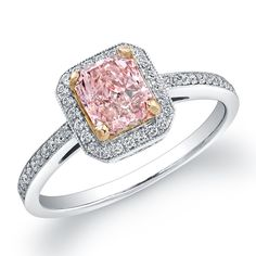 vintage pink diamond ring - This is pretty for Melissa