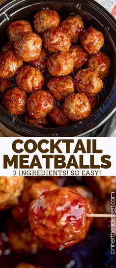 Cocktail Meatballs are the PERFECT appetizer made with frozen meatballs, grape j. Cocktail Meatballs are the PERFECT appetizer made with frozen meatballs, grape jelly, and chili sauce, easy to throw together and only 3 ingredients! Crock Pot Meatballs, Appetizer Meatballs Crockpot, Cocktail Meatballs Crockpot, Cocktail Meatballs Grape Jelly, Crockpot Frozen Meatballs, Meatball Appetizers, Sauce For Meatballs Easy, Best Frozen Meatballs, Gourmet