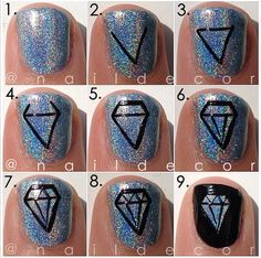 Diamond Nail Tutorial- this is so for Emily!:)