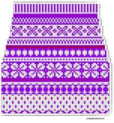 Pitkät kirjoneulesukat varren kaavio Fair Isle Knitting Patterns, Knitting Paterns, Knitting Charts, Knitting Socks, Knit Patterns, Embroidery Patterns, Stitch Patterns, Willow Weaving, Cross Stitch Charts