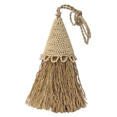 Vetiver Beaded Tassel Room Freshener never loses its scent, making it an excellent moth and pest repellent for the #closet or #dressing_room (handmade by Fair Trade Artisans in Bali)