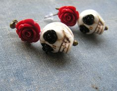Check out this item in my Etsy shop https://www.etsy.com/listing/249704892/day-of-the-dead-earrings-wedding-bride