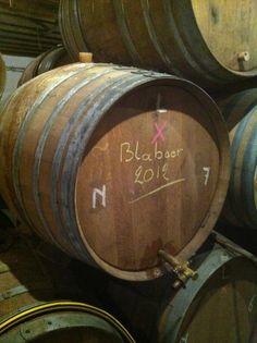 Cantillon Blåbær (blueberry) Lambik 2012, in the barrels.