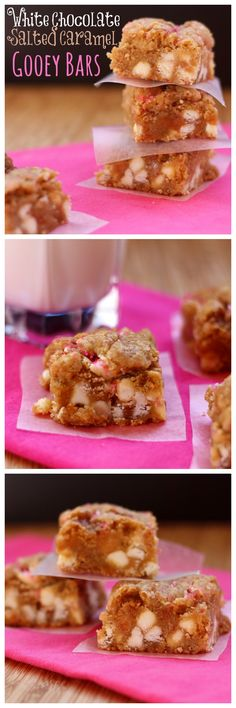 White Chocolate Salted Caramel Gooey Bars - the best blondies ever! | cupcakesandkalechips.com | #dessert #cookies