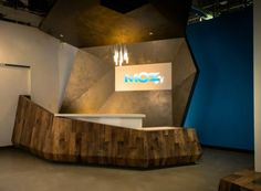 Mozplex Reception Desk - cool origami/geometric form