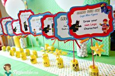 The Lego Movie Party Game Signs {free printable}