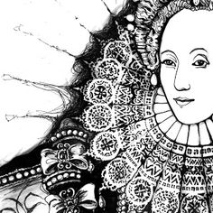 Queen Of England, Tudor History, King Henry, King Queen, Queen Elizabeth, Reign, Color Inspiration, Original Art, Illustration Art